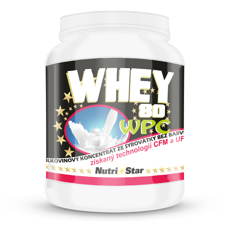 Nutristar Whey Protein 80, WPC natural 0,9 kg